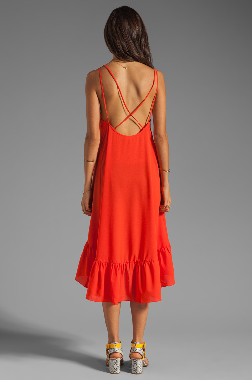6 SHORE ROAD Bungalow Backless Dress in Sunset