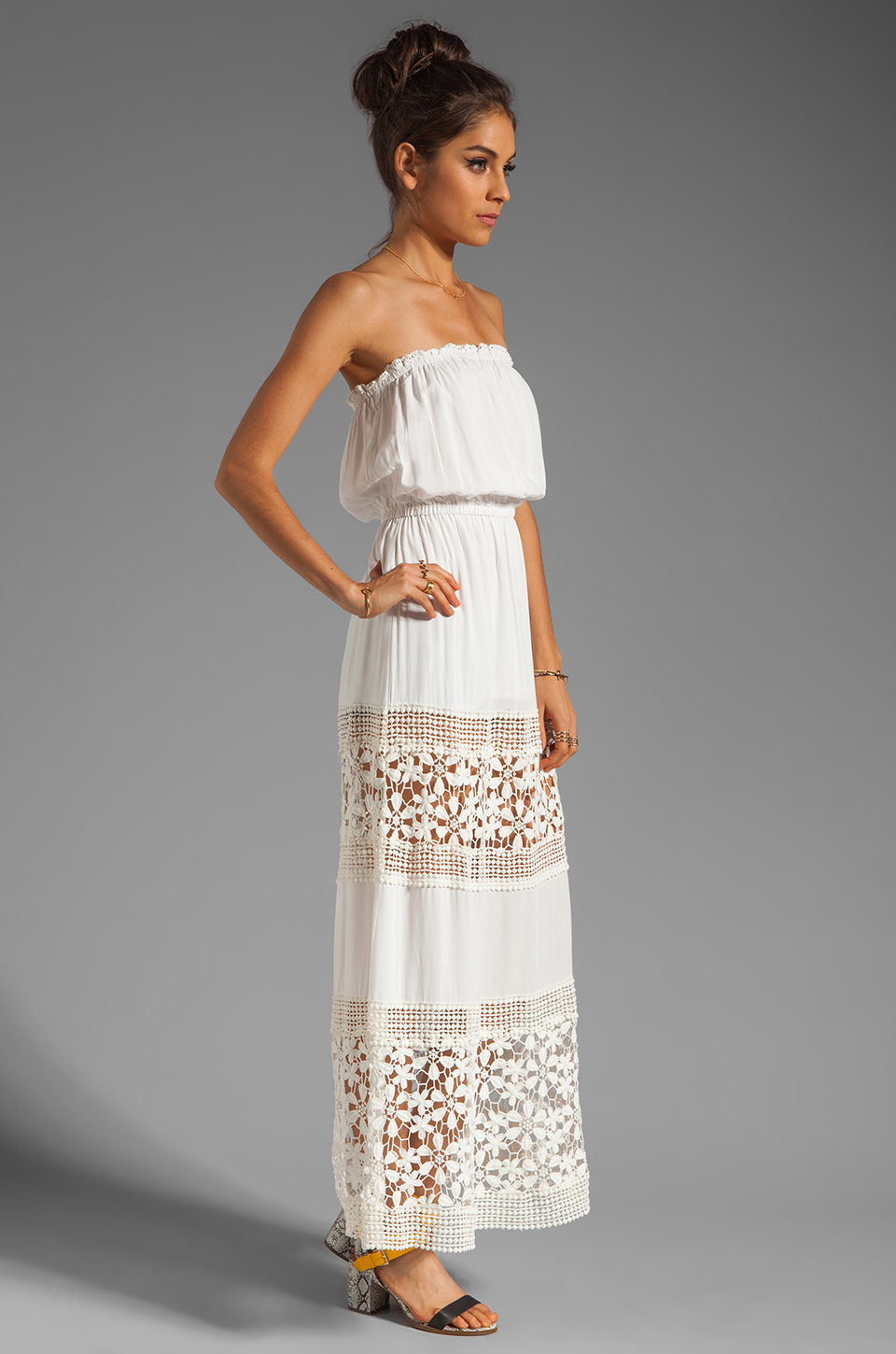 6 SHORE ROAD Charlotte's Maxi Dress in Shell