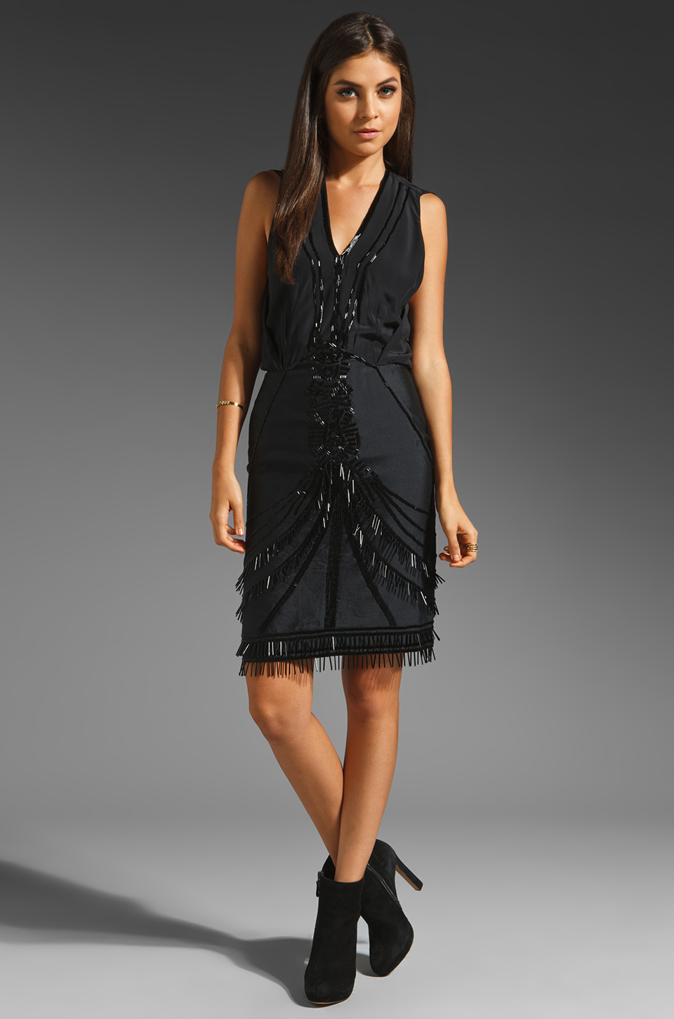 Antik Batik Koco Sleeveless Dress in Black