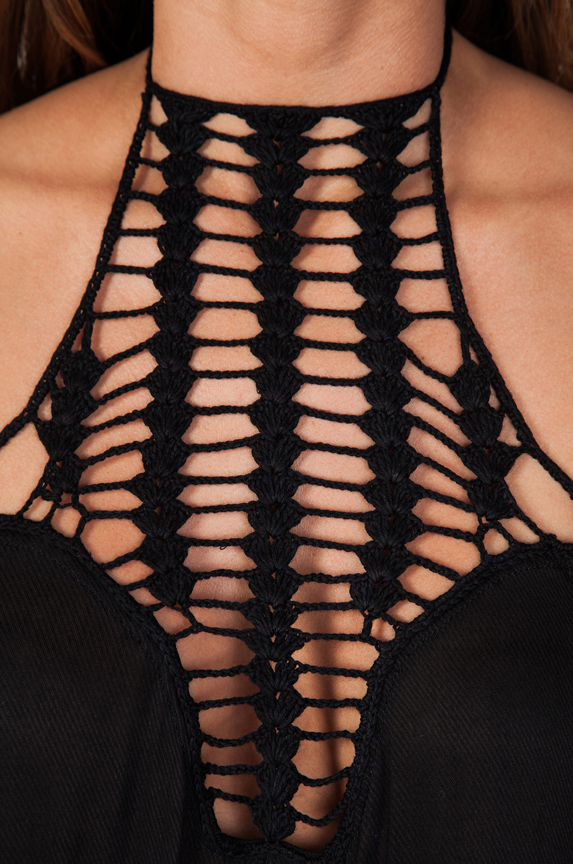 Acacia Swimwear Positano Crochet Maxi Dress in Storm