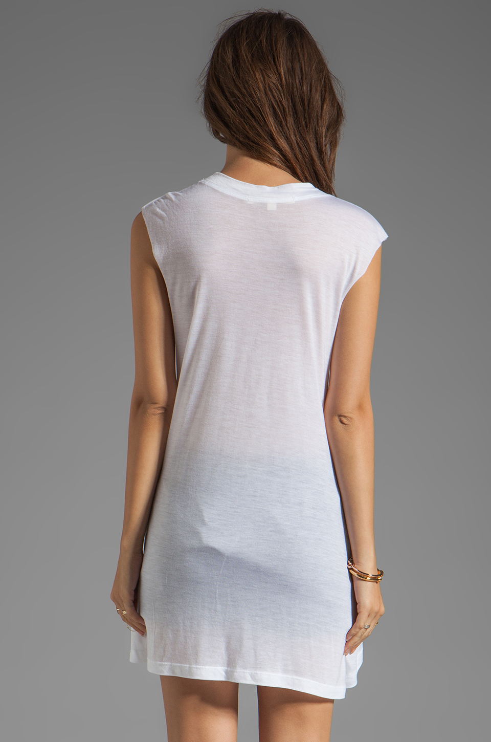 A Fine Line Abby Hotel Tank in White