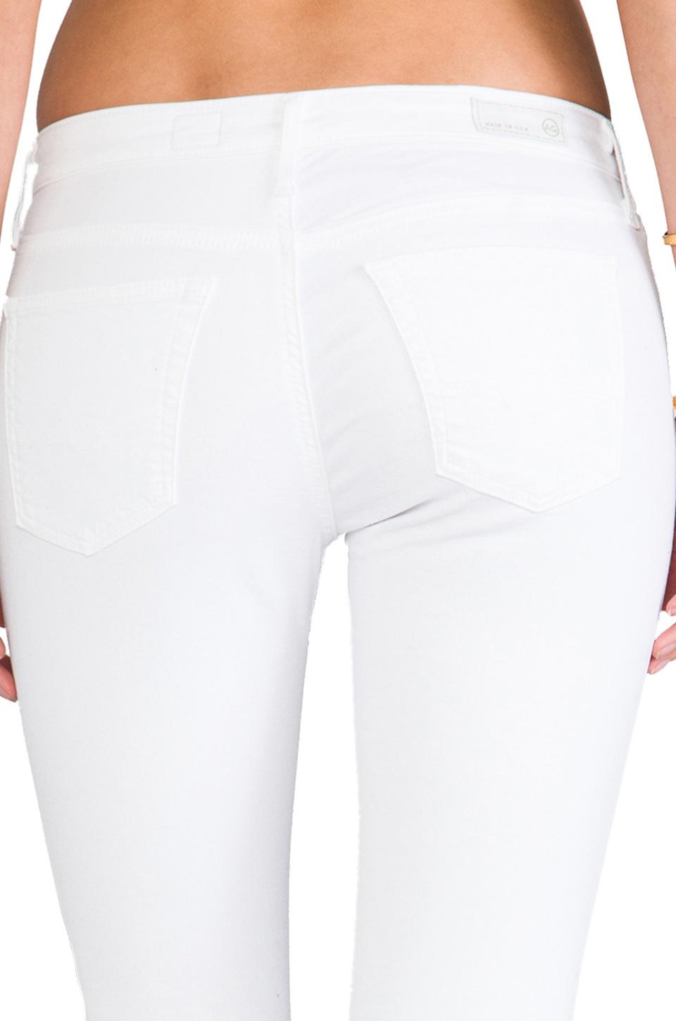 AG Adriano Goldschmied Ankle Legging in White