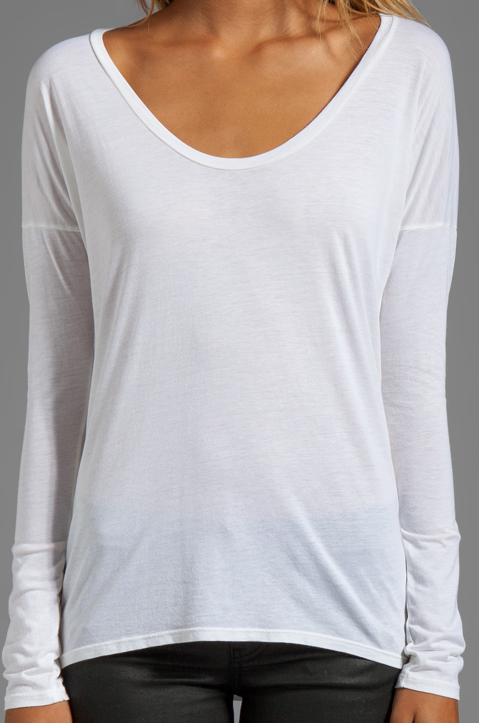 AG Adriano Goldschmied Scoop Tee in White