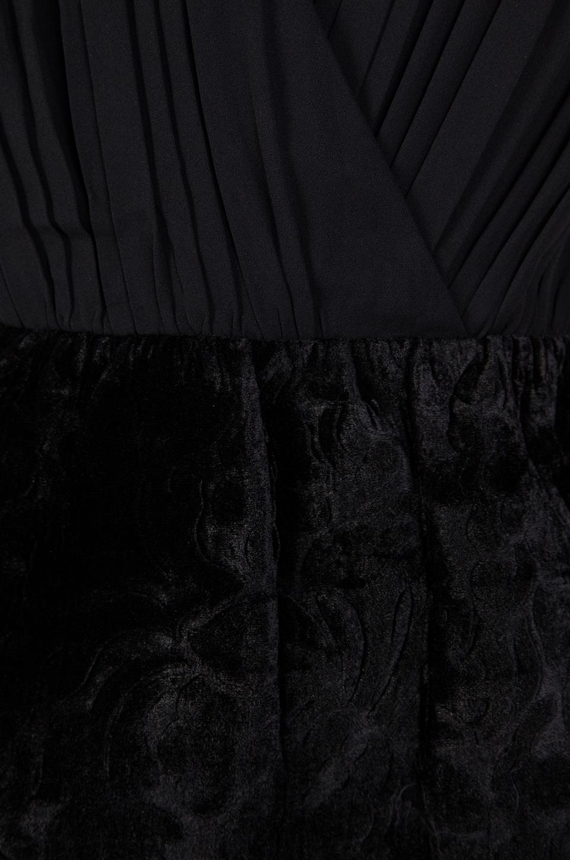 Alice + Olivia Riva Gathered Pouf Skirt Dress in Black