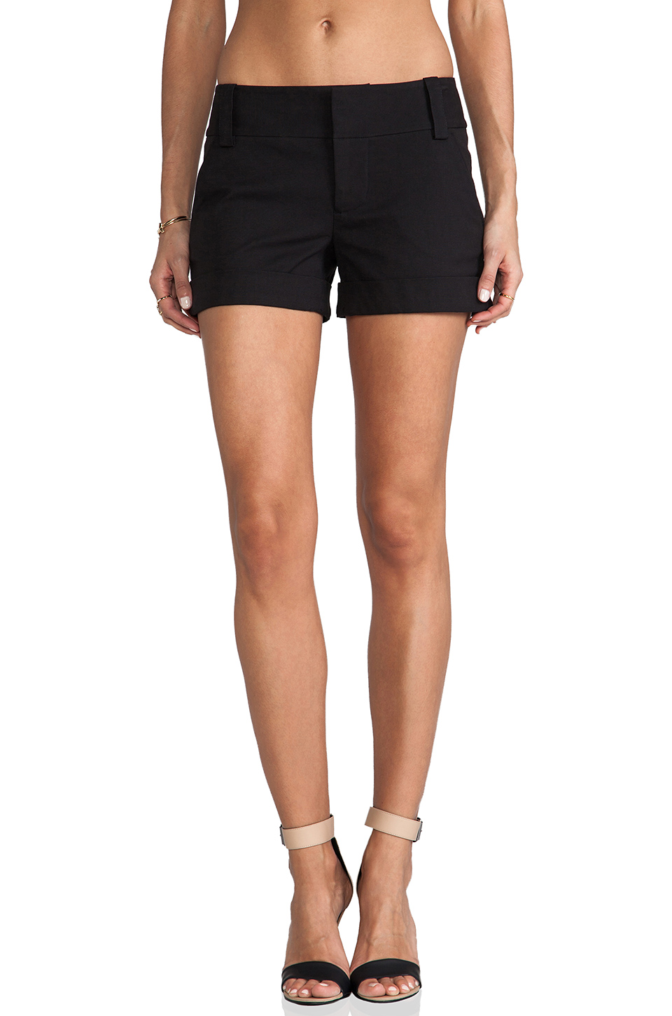 Alice + Olivia Cady Cuff Short in Black