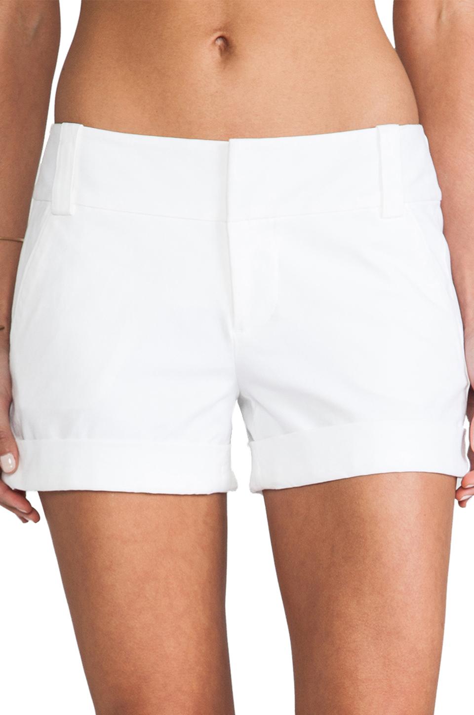 Alice + Olivia Cady Cuff Short in White