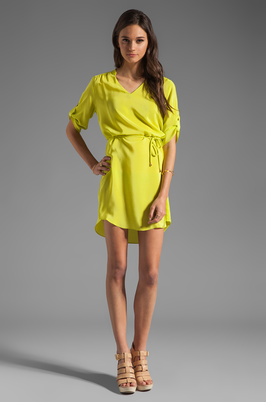 Amanda Uprichard Staci Dress in Lime