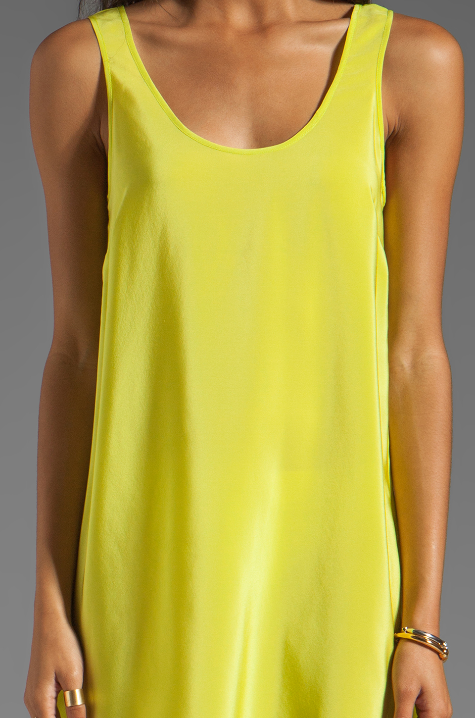 Amanda Uprichard Tank Dress in Lime