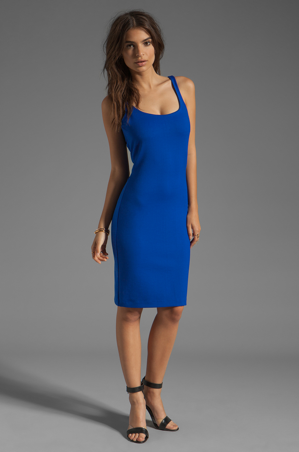 Amanda Uprichard Ponte Mini Tank Dress in Royal