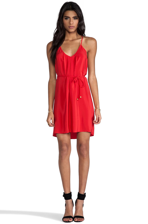 Amanda Uprichard Button Back Dress in Red