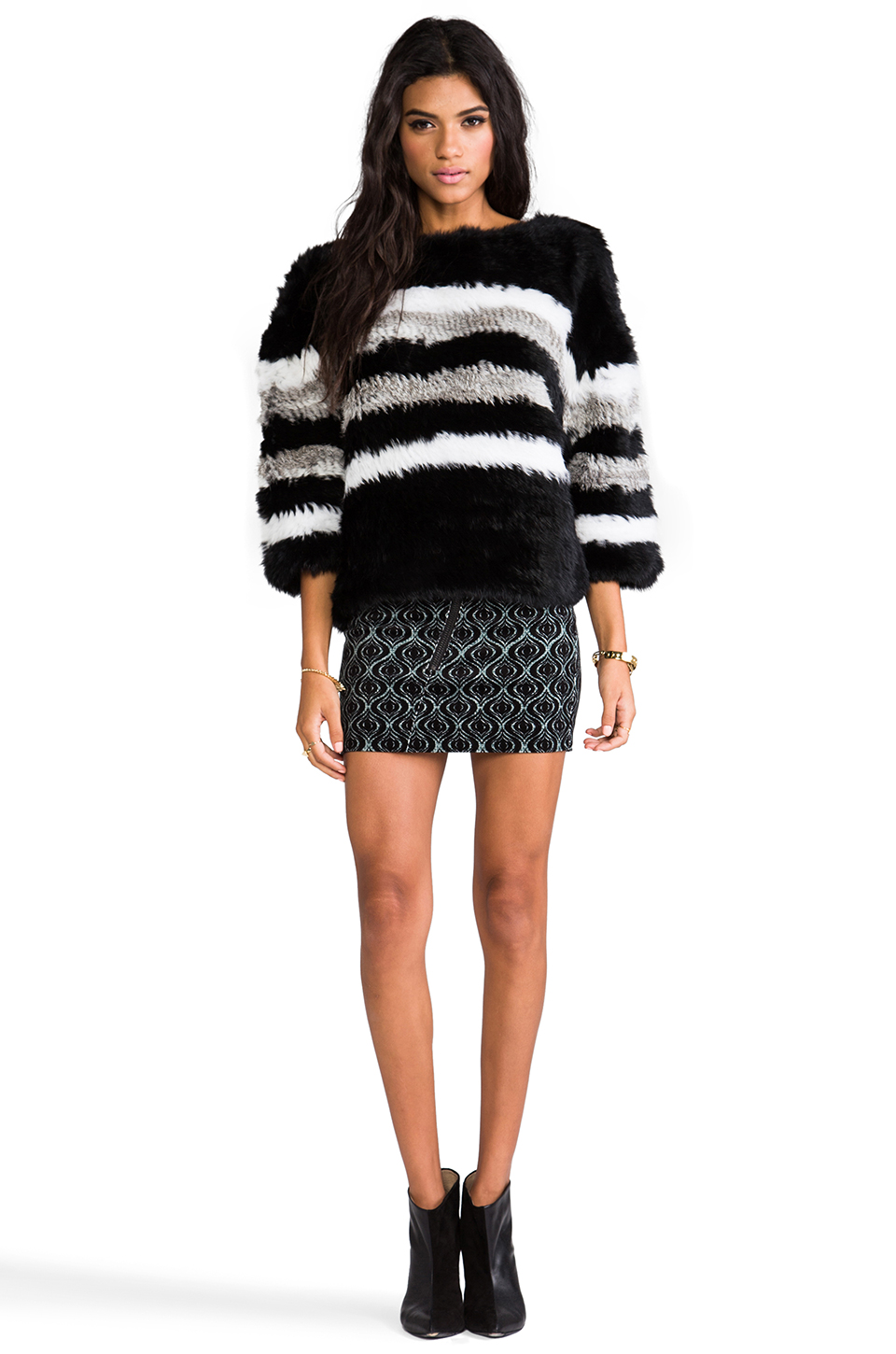 April, May Freeze Rabbit Pullover in Black