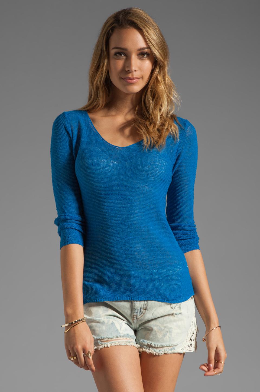 American Vintage Adams Pullover Sweater in Cobalt
