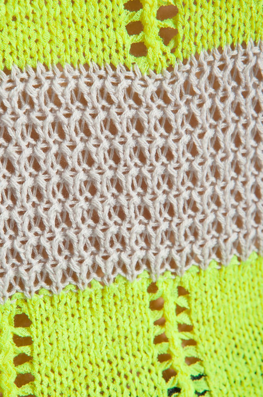 Ash-Rain-Oak Penny Knit Stripe Top in Oyster Stripe