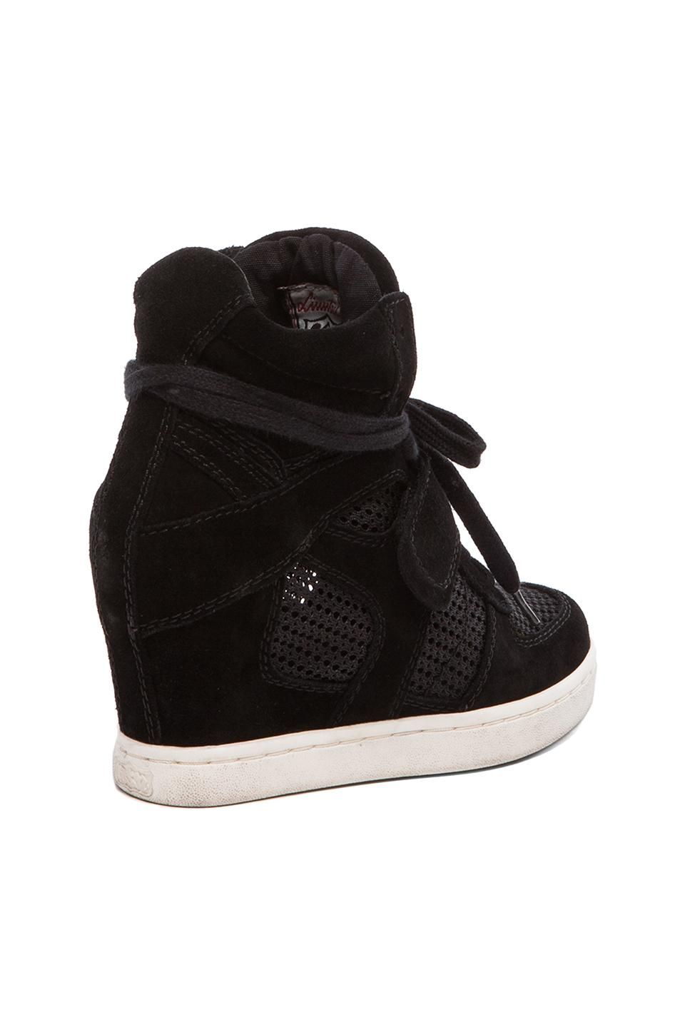 Ash Cool Mesh Wedge Sneaker in Black/Black