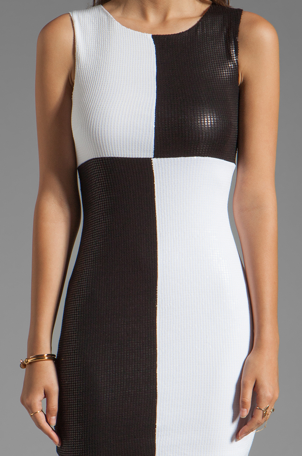 Bailey 44 Dig Out Dress in Black/White