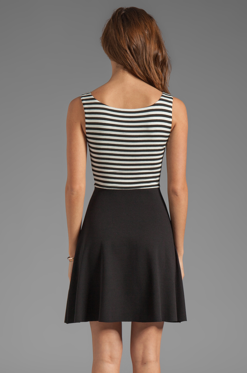 Bailey 44 Udon Dress in Black/Creme