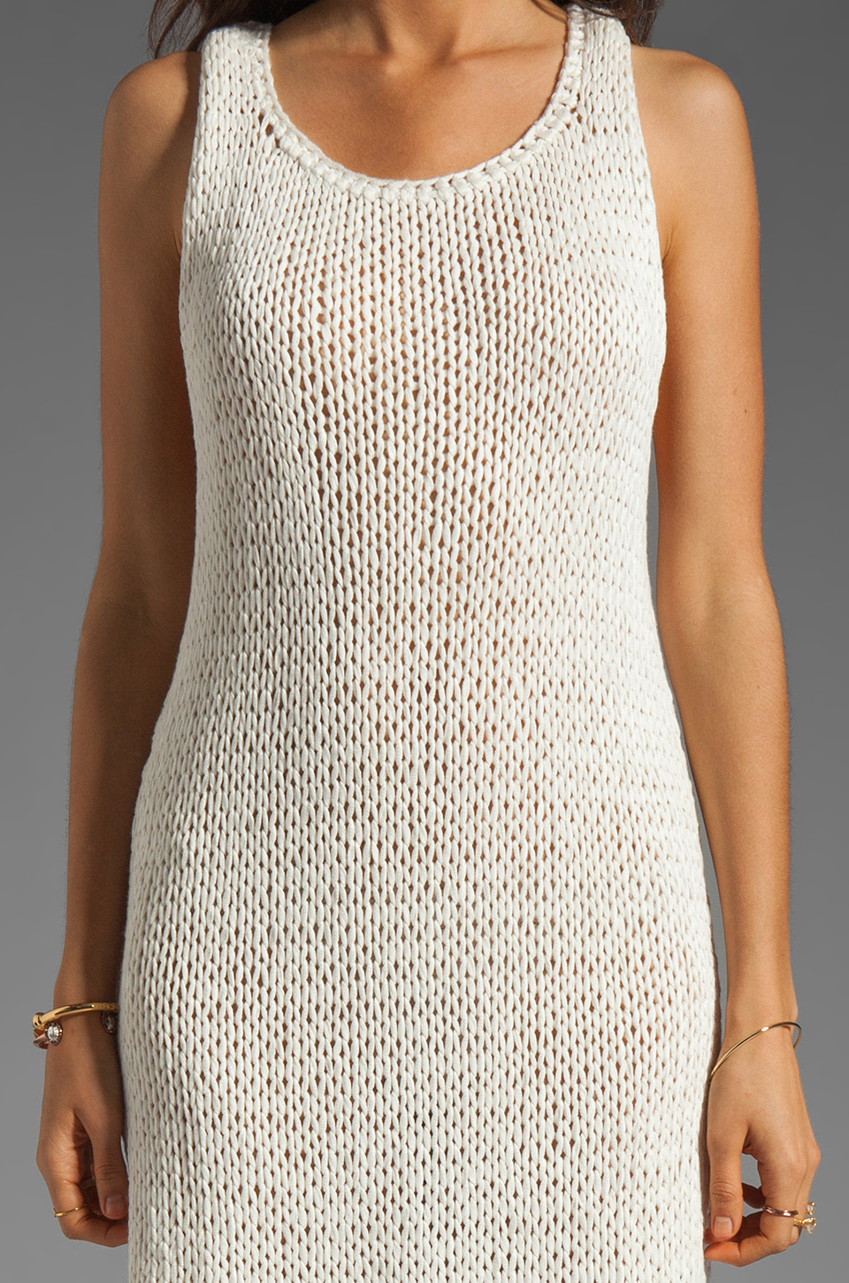 Basta Surf Percy T-Back Dress with Reflector Accents in White