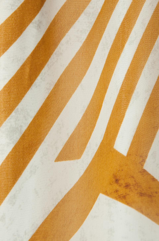 BB Dakota Imelda Golden Pyramid Printed Chiffon Maxi Dress in Gold
