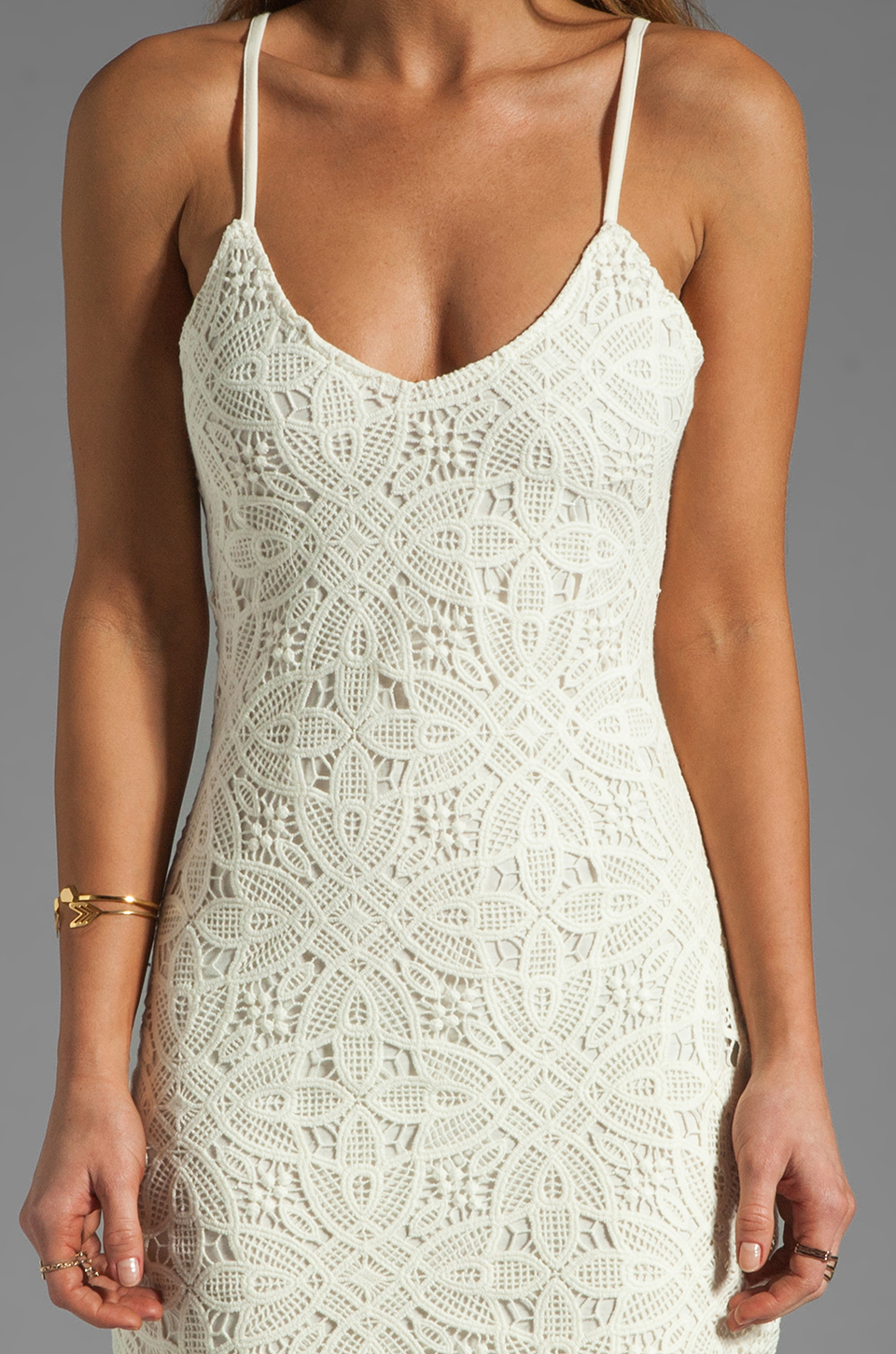 BB Dakota Maiden Crochet Lace Dress in Ivory