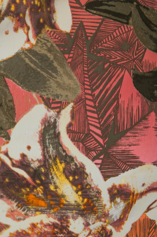 BB Dakota Stillman Orchid Printed Dress in Travertine