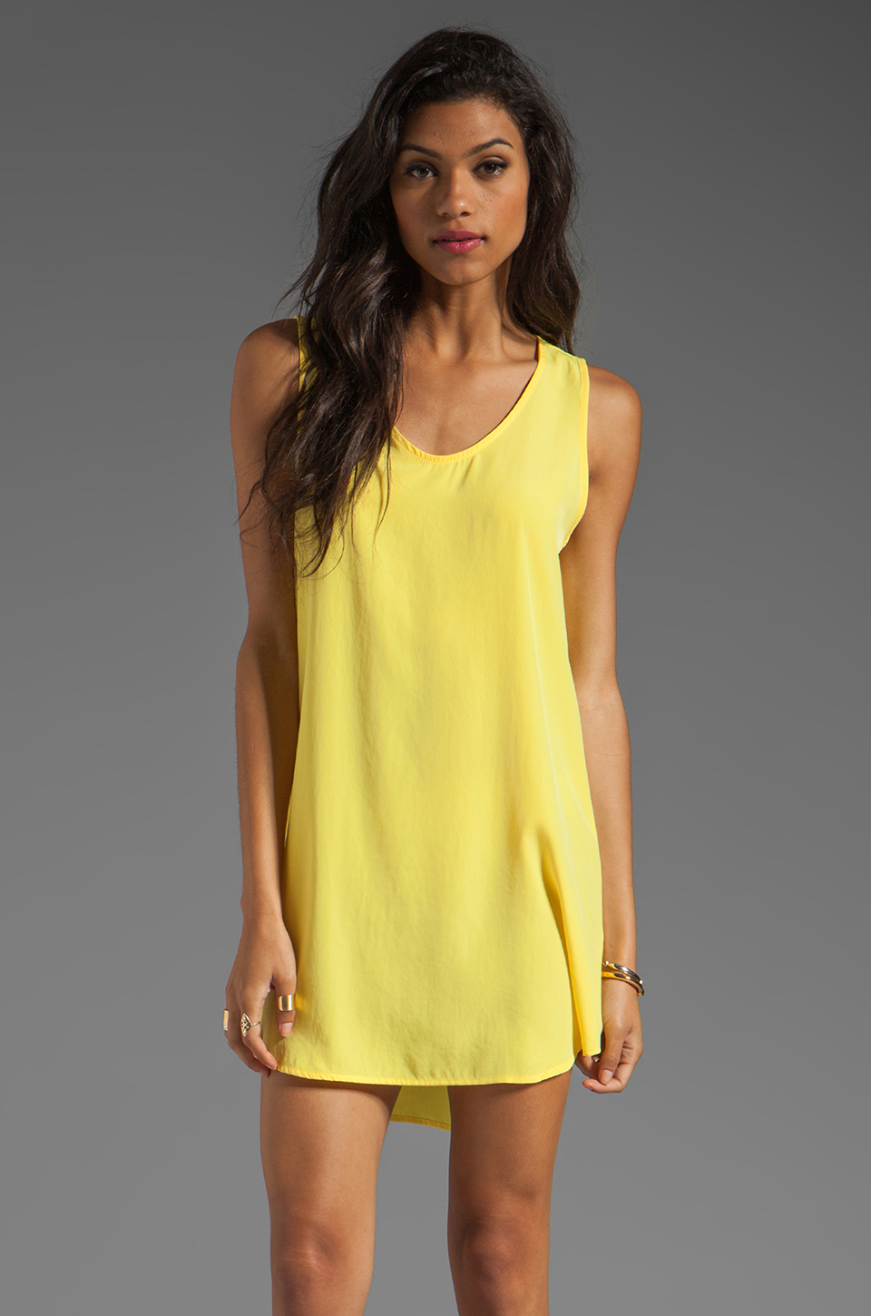 BB Dakota Wilt Hi-Low Dress in Cabana Yellow