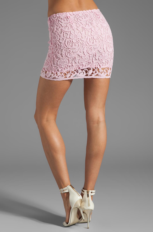 BB Dakota Sanford Lace Mini Skirt in Carnation