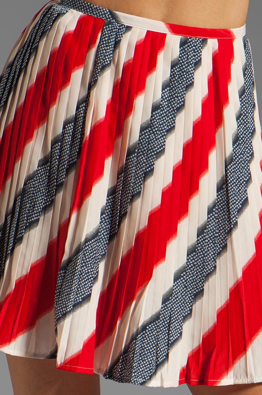 BB Dakota Dorene Stripe River Skirt in Midnight Blue/True Red