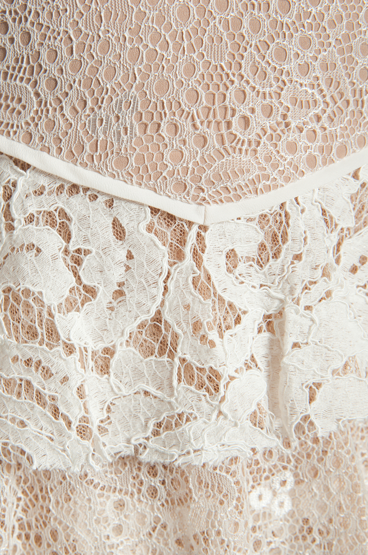 BCBGMAXAZRIA Ruffle Dress in Gardenia