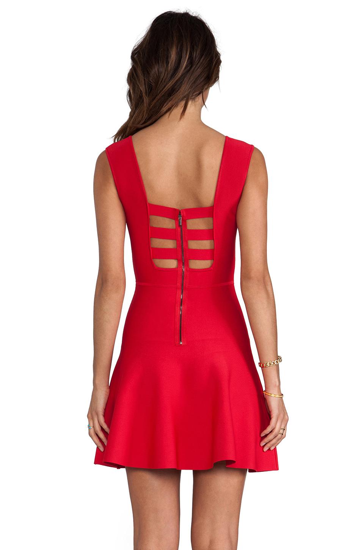 BCBGMAXAZRIA Back Cut-Out Dress in Poppy