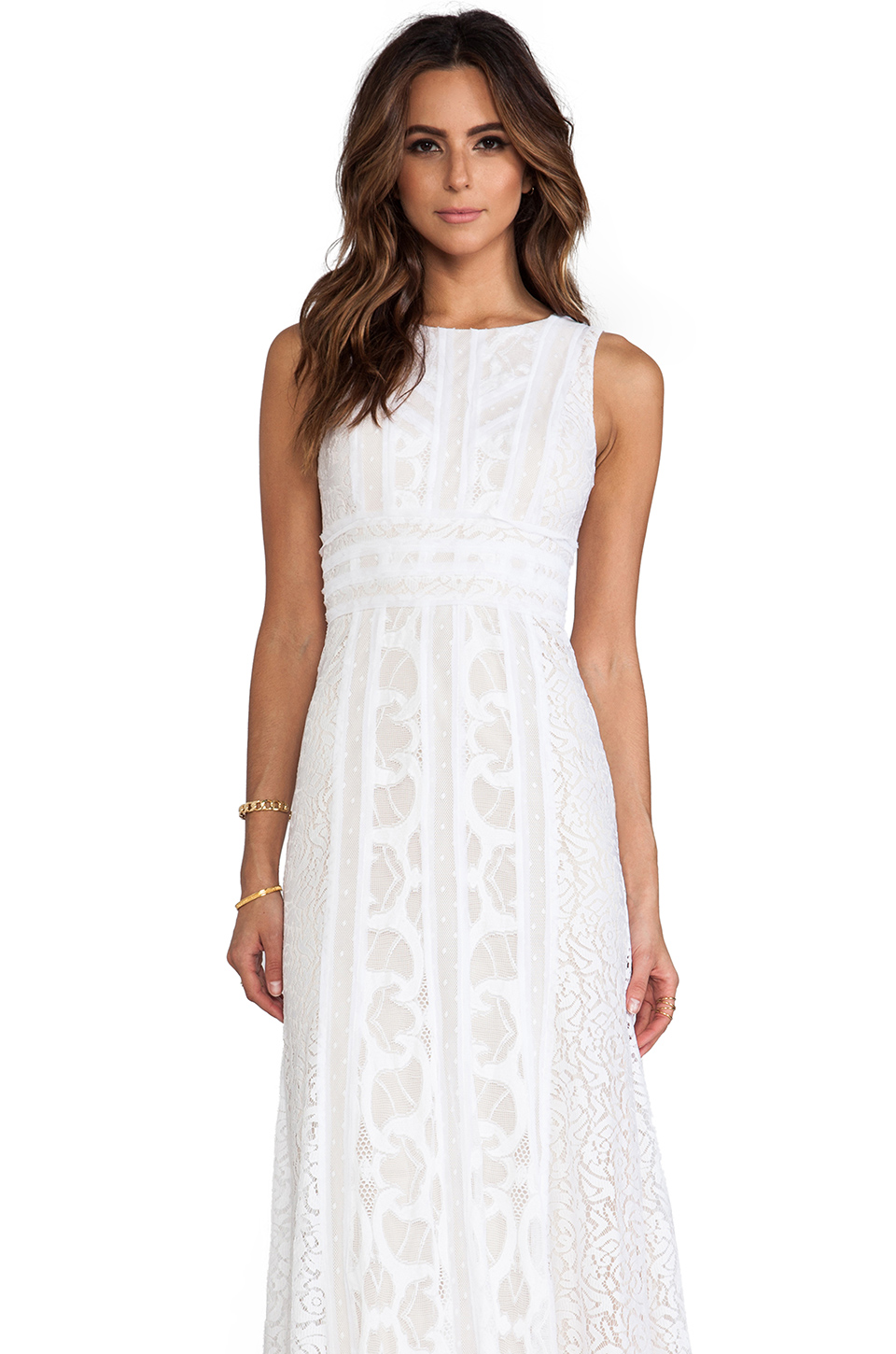 BCBGMAXAZRIA Kelley Dress in White