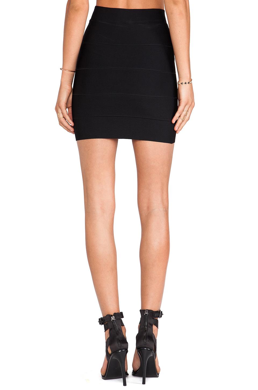 BCBGMAXAZRIA Mini Bandage Skirt in Black