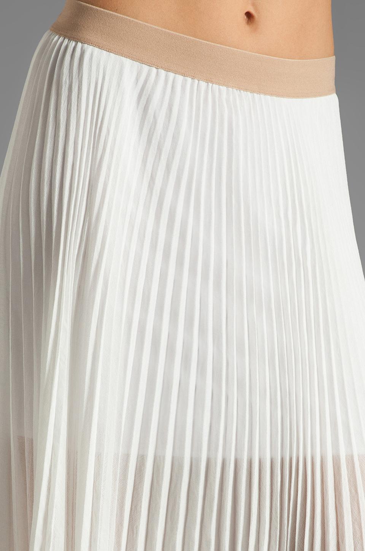 BCBGMAXAZRIA Pleated Maxi Skirt in White