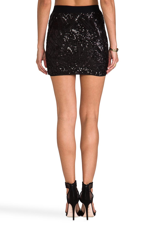 BCBGMAXAZRIA Paxton Sequin Skirt in Black Combo