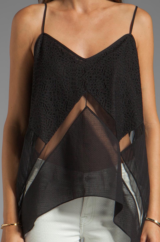BCBGMAXAZRIA Lace Cami in Black