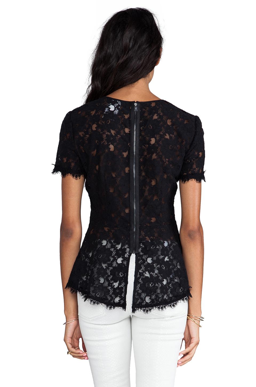 BCBGMAXAZRIA Evia Lace Top in Black