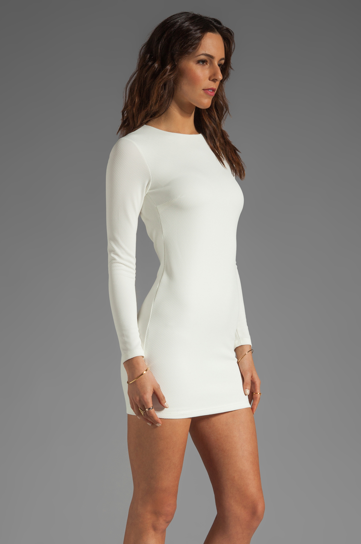 BEC&BRIDGE Estella Long Sleeve Backless Dress in Ivory