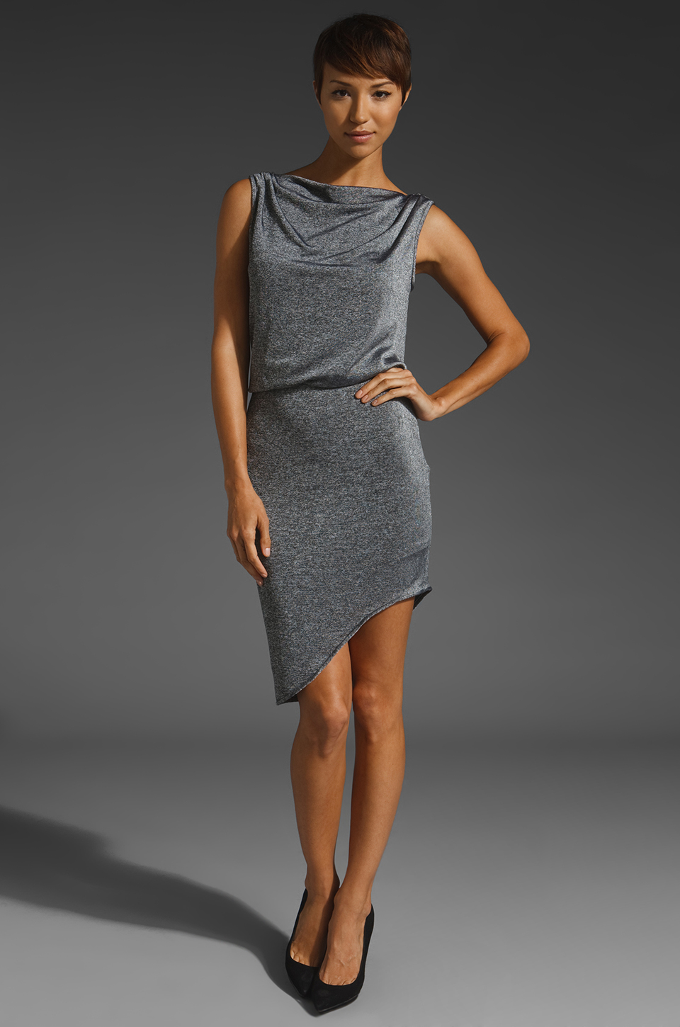 Black Halo Holiday Dress in Thunder