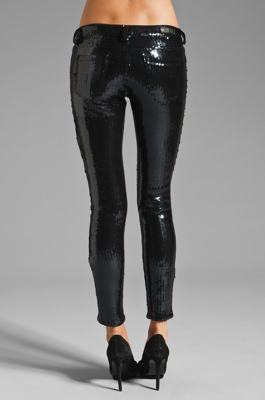 BLANKNYC 5 Pocket Sequin Spray On Skinny in Black