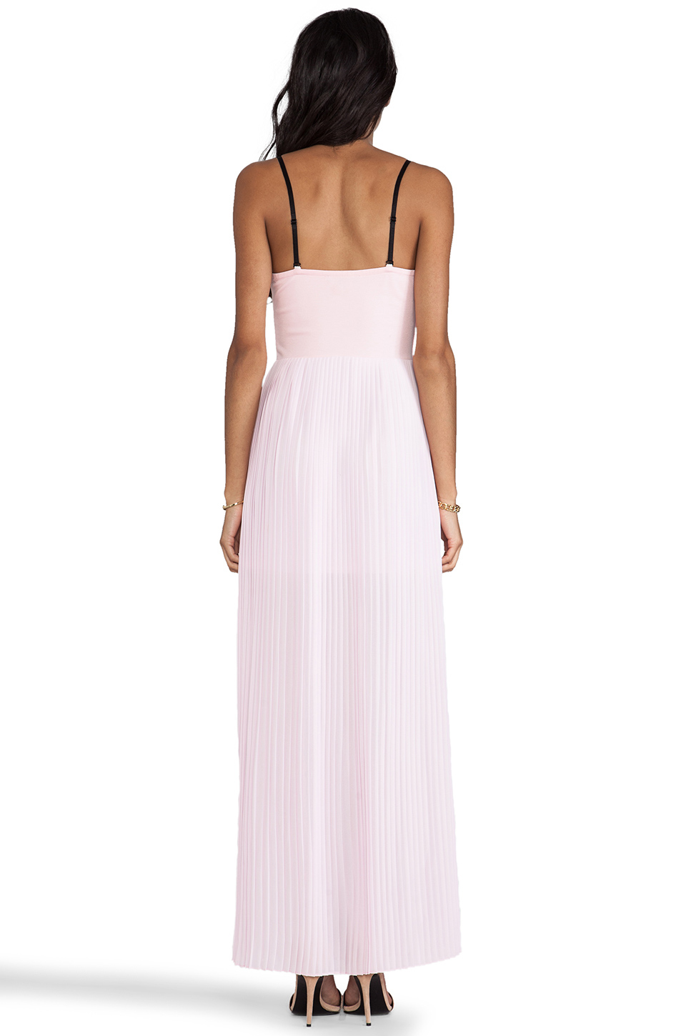 BLAQUE LABEL Pleated Maxi Dress in Pink