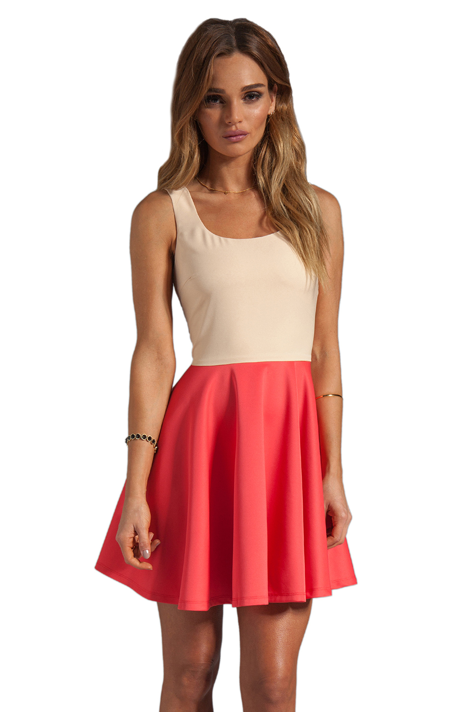 BLAQUE LABEL Dress in Nude/Coral