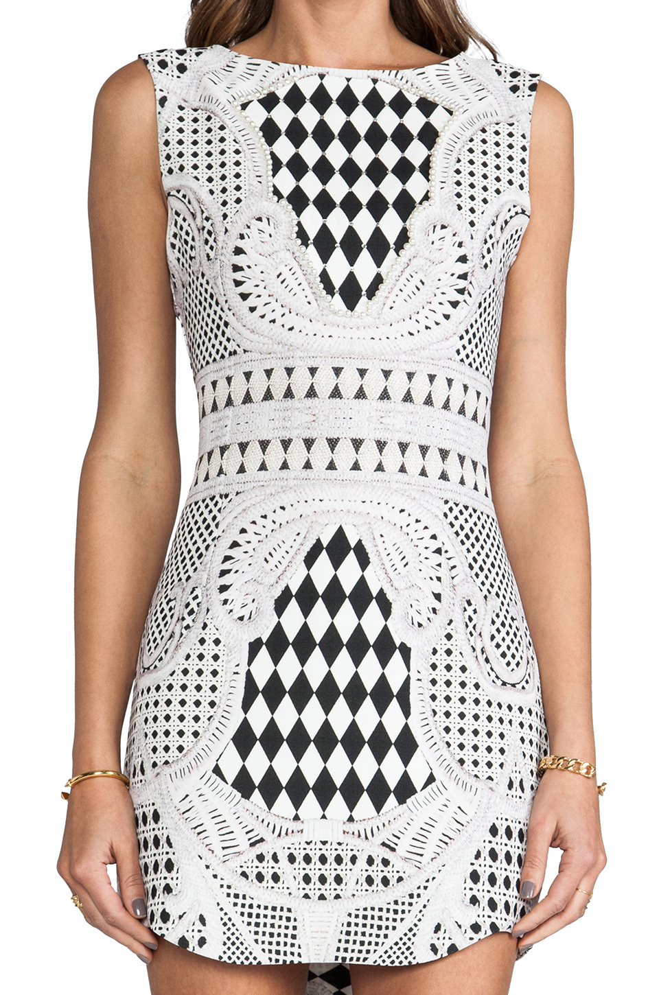 BLAQUE LABEL Print Dress in Black