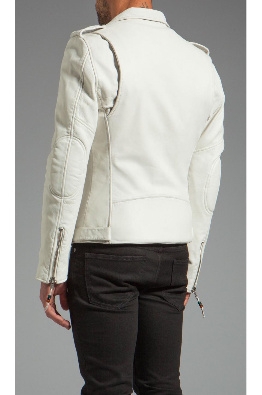 BLK DNM Leather Jacket 5 in Smoke White