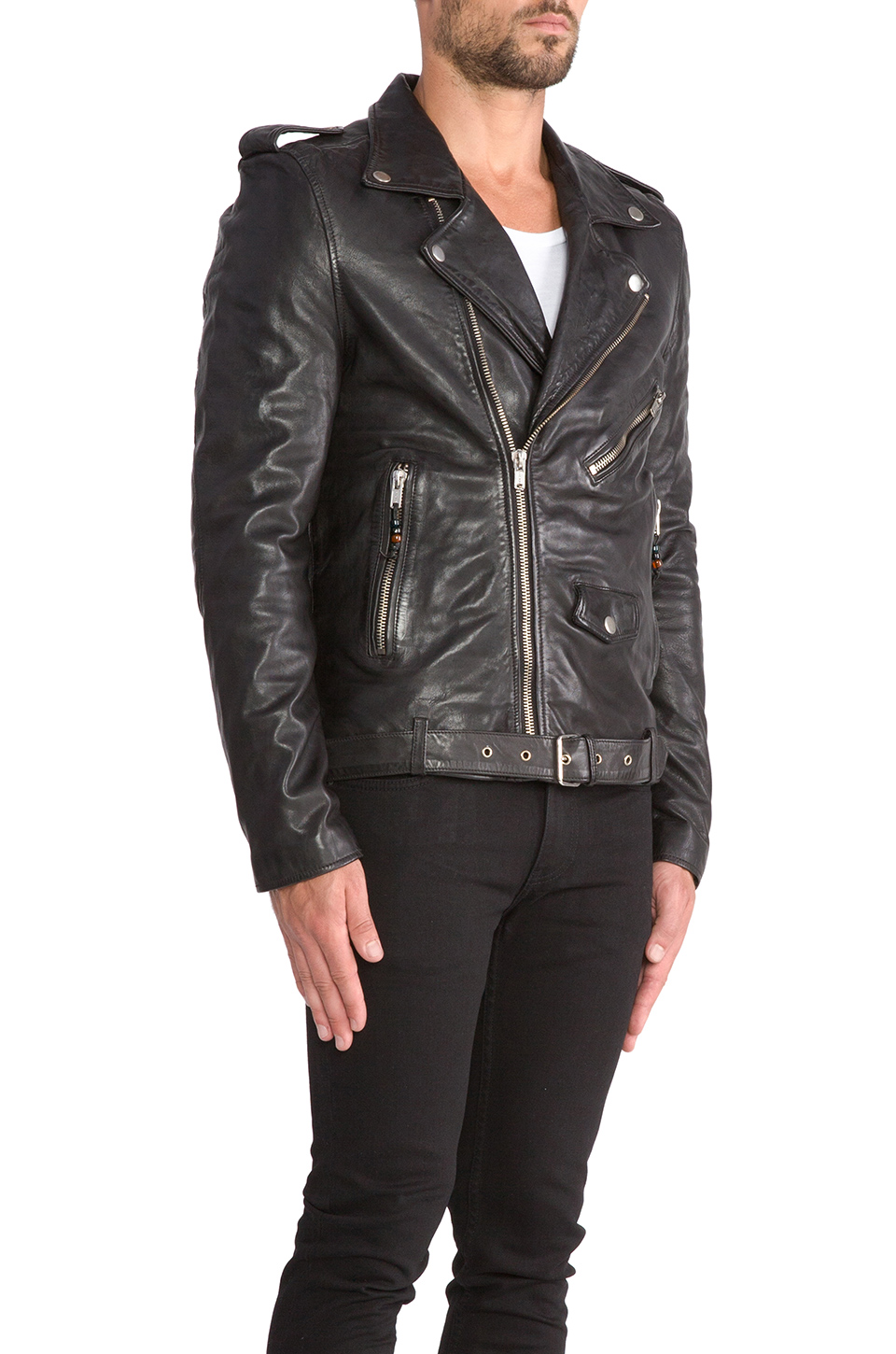 BLK DNM Leather Jacket 5 in Black