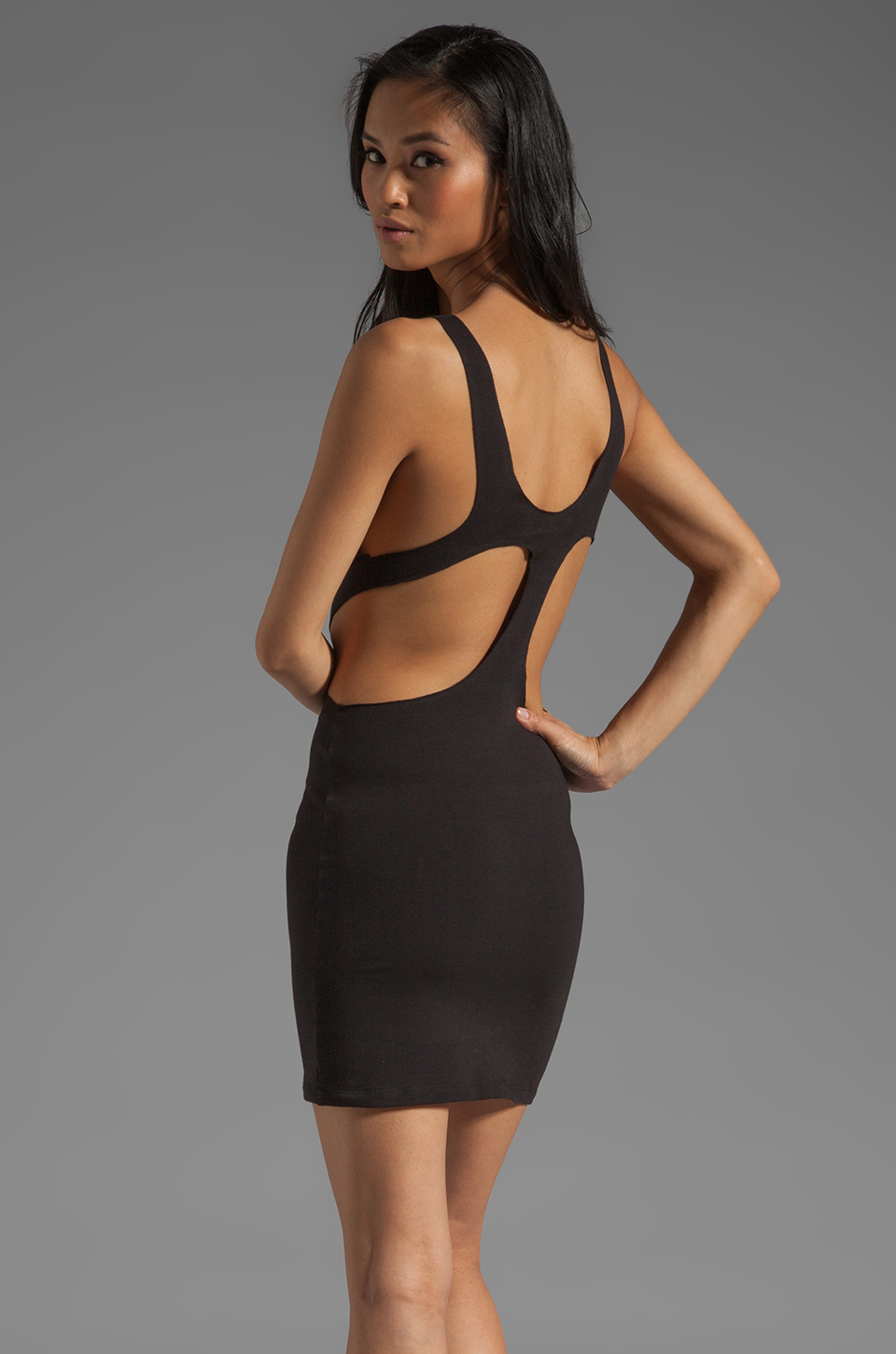 Blue Life Sexy Cut Out Dress in Black