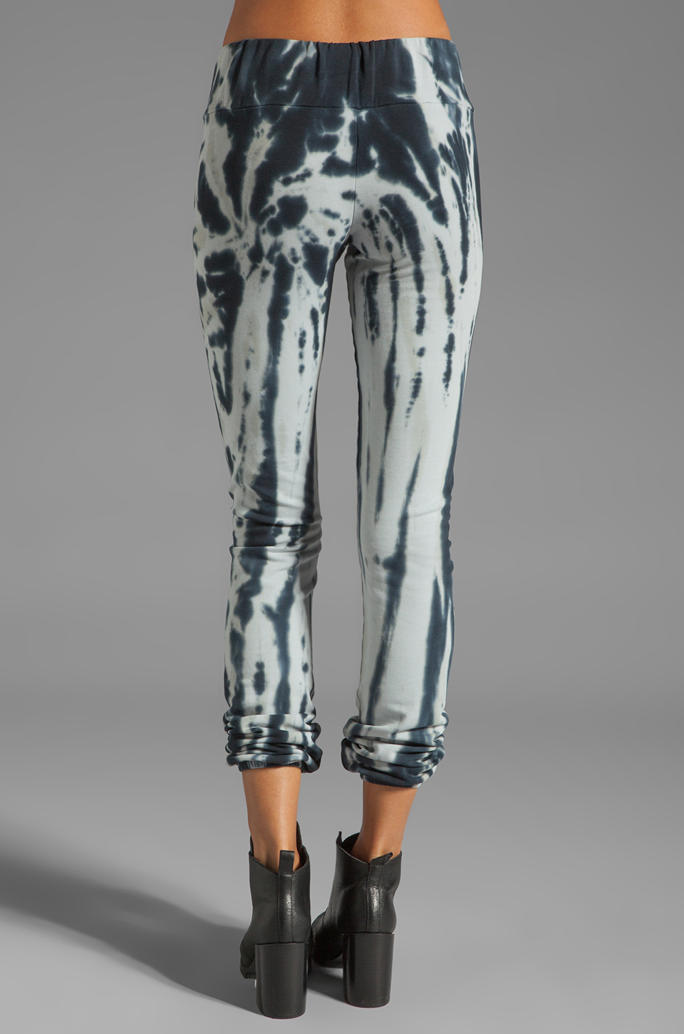 Blue Life Fitted Sweat Pant in Black/White Tie Dye
