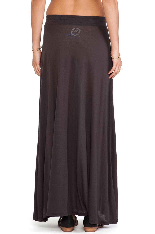 blue festival maxi skirt in faded black revolve