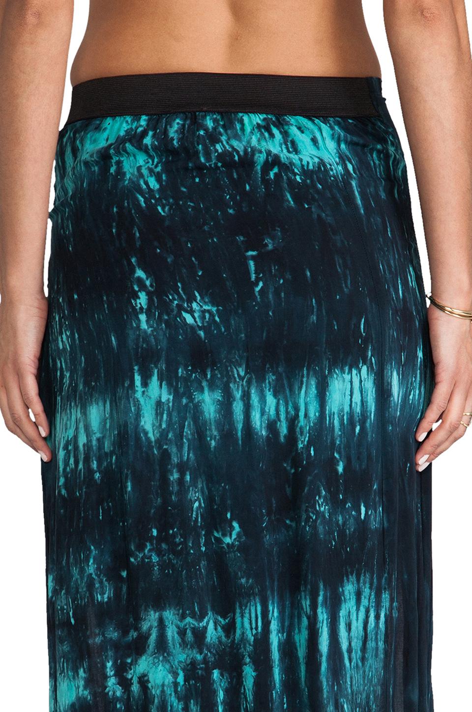 Blu Moon Two Slit Skirt in Turquoise Tie Dye