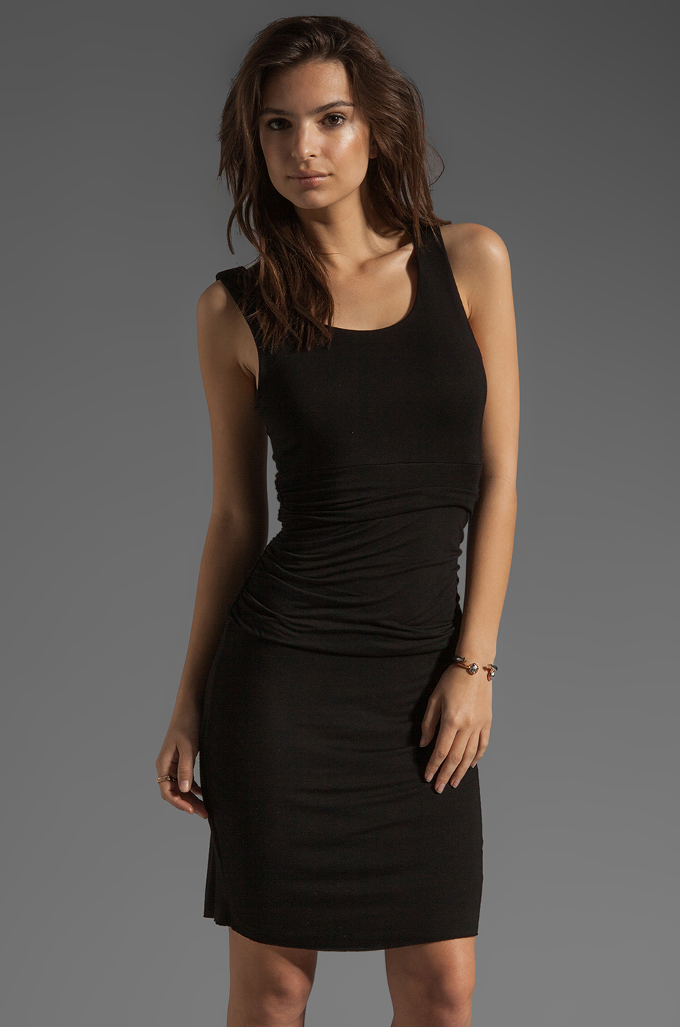 Bobi Tank Dress in Black