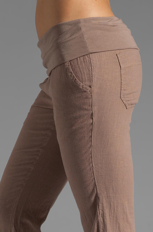 Bobi Linen Foldover Pant in Java