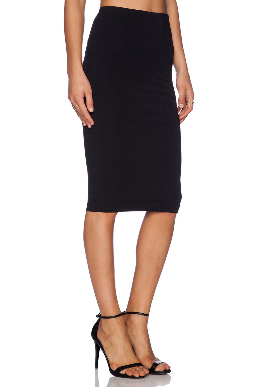 bobi cotton lycra pencil skirt in black revolve